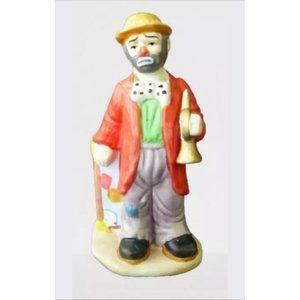 Emmett Kelly Jr By Flambro Clown Holding a Horn